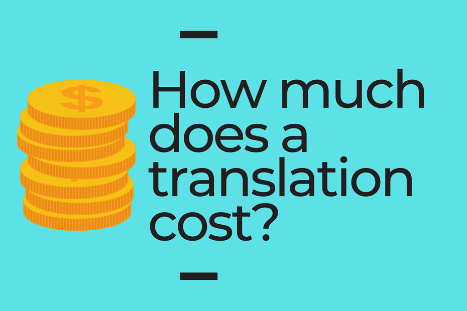 How much does a translation cost